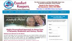 Featured Home Care Provider of the Week on Home Care Daily. Home Care Sarasota- Comfort Keepers. http://www.homecaredaily.com/home-care-sarasota-fl-comfort-keepers-home-care-services/