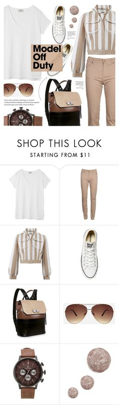 """It-Girl: Model Off Duty"" by cly88 ❤ liked on Polyvore featuring Hush, Barbour, Fendi, Converse, Carven, Ashley Stewart, Rip Curl and Topshop"