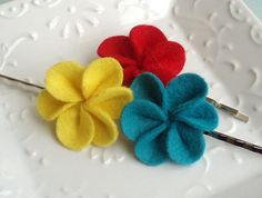 Felt Blossom Hair pins