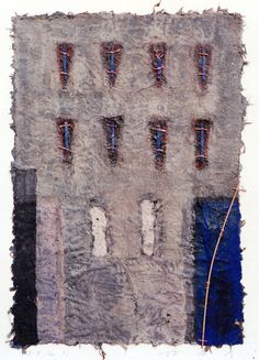 Takahiko Hayashi ~ D-8, 1993 (painting, collage on paper)