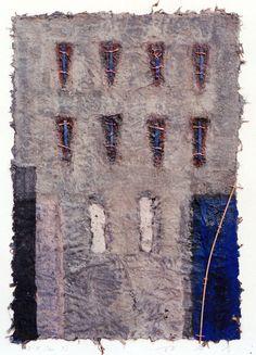 Takahiko Hayashi ~ D-8, 1993 (painting, collage)