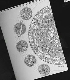 62 ideas zentangle art dibujos mandalas for 2019 Doodle Art Drawing, Zentangle Drawings, Pencil Art Drawings, Art Drawings Sketches, Zentangles, Drawing Artist, Mandala Doodle, Easy Mandala Drawing, Doodle Patterns