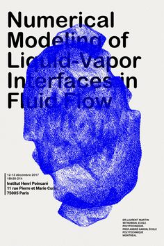 Alexis Gargaloni - Numerical Modeling of Liquid-Vapor Interfaces in Fluid Flow - Institut Henri Poincaré Poster