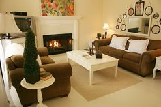 small living room decoration ideas with fireplace