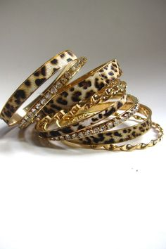 Leopard Bangles...Amy L., look at the board love of leopard by Sharon Saffert