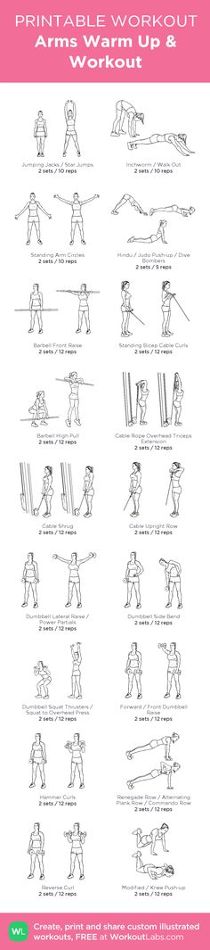 Arms Warm Up & Workout: workout created at WorkoutLabs.com •