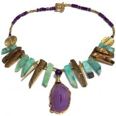 Purple Amazonite Alchemy Necklace We believe your jewellery should be yours alone and that is why we only create one-off and bespoke pieces of jewellery at LUKA.  $299 AUD, free global shipping