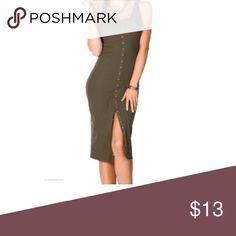 Ribbed  bodycon dress Ribbed body-con dress  with bottom down bottoms (not fashion nova) Fashion Nova Dresses Mini