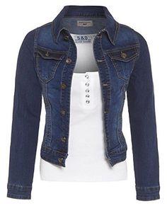 SS7 NEUF Femmes Veste en jeans indigo Tailles 8 pour 14 - Mi lavage bleu 40