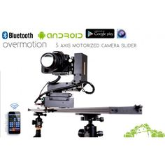 3 AXIS Motorized Camera Slider, Bluetooth-Android - OverMotion