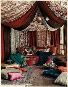 arabian nights fantasy room | Arabian Nights Fantasy - Brunschwig & Fils, Spring 2008