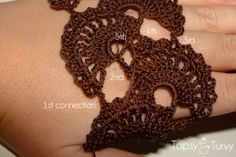 queen-anne-lace-thread-crochet-bracelet-connection-row-30-finished by imtopsyturvy.com, via Flickr