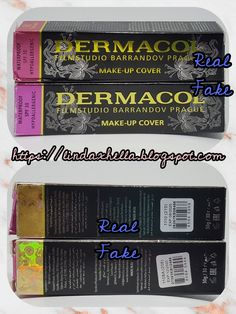 Real VS Fake Dermacol Foundation Cover