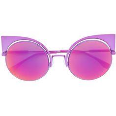 Fendi Eyeshine sunglasses (600 CAD) ❤ liked on Polyvore featuring accessories, eyewear, sunglasses, pink, cat eye sunglasses, cateye sunglasses, pink cat eye glasses, fendi eyewear and fendi