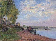Le Loing à Saint-Mammès 1883. Alfred Sisley (1839-1899)