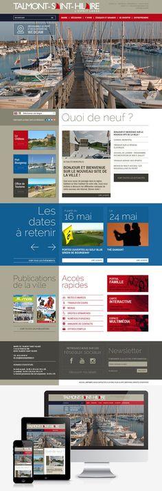 Refonte du site web de la ville de Talmont-Saint-Hilaire (85) #Webdesign #Responsive #Mairie #Ville #Colterr : www.talmont-saint-hilaire.fr