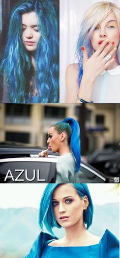 CABELOS COLORIDOS AZUL #cabelos #cabeloscoloridos #cabeloazul