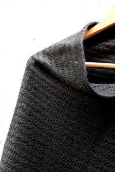 Black  Wool Cape, Sleevless Top Loose fitting Casual Top, Wool Poncho  Nursing Shawl