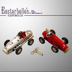 Pair of US Zone - Germany Schuco Micro Racer Die Cast 1043 and 1040 Toy Cars