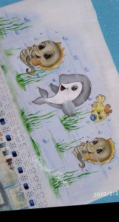 Painting Patterns, Fabric Painting, Watercolor Paintings, Baby Art, Digi Stamps, Painting For Kids, Cute Cartoon, Baby Quilts, Diy And Crafts