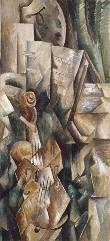 Georges Braque (French, Cubism, 1882–1963): Violin and Palette, 1909. - Google Search