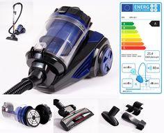 Staubsauger,Bodenstaubsauger,Electronics-Power Beutellos,Zyklon ITO schwarz blau
