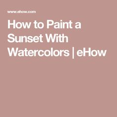 Watercolor sunset painting, using wash and 'lifting' techniques to create the sun and its reflection. Watercolor Sunset, Watercolor Tips, Watercolor Projects, Watercolour Tutorials, Watercolor Techniques, Watercolor Landscape, Watercolor Paintings, Watercolor Pencils, Painting Tutorials