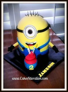 Minion Despicable Me cake  Cake by CakeAdoration