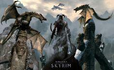Elder Scrolls V Skyrim Dragon HD Wallpaper