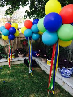 Baby Boy 1st Birthday Party, Circus Birthday, Carnival Birthday Parties, 1st Boy Birthday, Birthday Ideas, Outdoor Birthday Decorations, Carnival Decorations, Festa Toy Story, Backyard Birthday