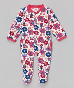 Look at this #zulilyfind! Pink Floral Footie - Infant #zulilyfinds