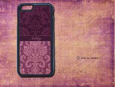 Purple Damask, Elegant phone Case, Gift for her - iPhone 5s case, monogram iPhone 6/6 Plus/4/4s/5/5s/5c- samsung s5- monogrammed case by SaidTheOwl on Etsy