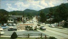 Gatlinburg in the 50's. WSEV radio booth