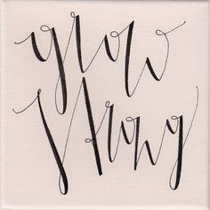 """grow strong"", rosé, 15x15cm, € 16,- Arabic Calligraphy, Shopping, Art, Drawing Rooms, Arabic Calligraphy Art"
