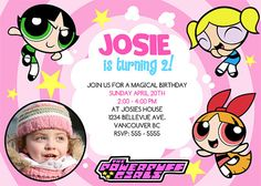 Powerpuff Girls Birthday Banner Personalized Party Backdrop Decoration