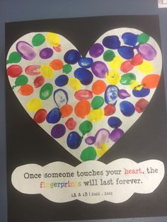 Class fingerprints for great for principals day gift!!