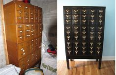 Card catalog...love the final product. I will do this!