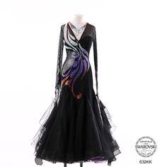 Chrisanne black silver crystal bodice design modern dress
