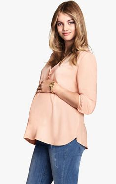 H&M maternity blouse - stylish maternity clothes on redsoledmomma.com