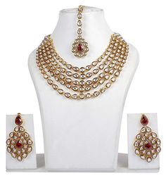 Indian Bollywood Design Kundan Made Exclusive Bridal Necklace Jewelry Set ... - http://weddingcollections.co.in/product/indian-bollywood-design-kundan-made-exclusive-bridal-necklace-jewelry-set/