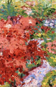 lonequixote:Small Garden ~ Emil Nolde  IS this a crop?