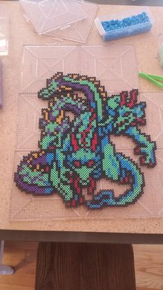 Tiamat (Final Fantasy 1 - NES Version) perler beads by windyy