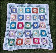Ravelry: Project Gallery for Free SmoothFox's Daisy Four Patch 12x12 pattern by Donna Mason-Svara