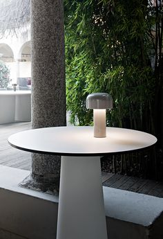 Buy Grey Flos Bellhop LED USB-C Touch Table Lamp from our Desk & Table Lamps range at John Lewis & Partners. Touch Table Lamps, Light Table, Home Lighting, Modern Lighting, Lighting Design, Lighting Ideas, Outdoor Lighting, Philippe Starck, Atelier Areti
