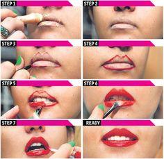 #3D #lips #lipstick #tutorial #makeup