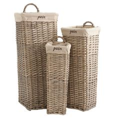 french bread baskets at wisteria