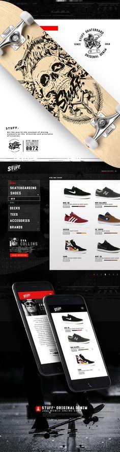 Skate Shop - Web Site - Skate, Web Design, Denim, Tees, Cards, Shopping, Design Web, T Shirts, Maps