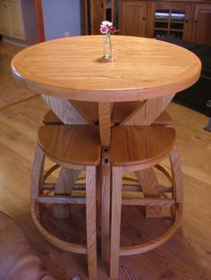 Small Bistro Table Set for Kitchen. Small Bistro Table Set for Kitchen. Folding Furniture, Home Decor Furniture, Furniture Design, Round Wooden Dining Table, Unique Dining Tables, Cafe Tables, Table And Chairs, Bistro Table Set, Cool House Designs