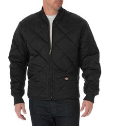 Keeping warm is what matters on those cold days, and Dickies' Diamond Quilted Nylon Jacket does the trick. You'll be prepared in this durable, water-resistant jacket with a polyester/cotton lining. Dickies Clothing, Dickies Workwear, Navy And Brown, Dark Brown, Black Dark, Dark Navy, Charcoal Black, Work Jackets, Diamond Quilt
