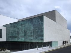 Historical movie images adorn facade of Dublin's National Film School